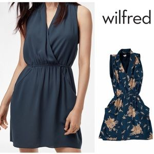 Wilfred Sabine Teal and Floral Mini Dress